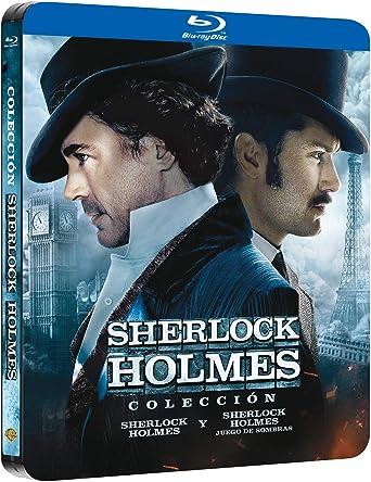 Pack Sherlock Holmes 1+2 Black Metal Edition Blu-Ray Blu-ray: Amazon.es: Robert Downey Jr, Jude Law, Rachel Mcadams, Mark Strong, Robert Maillet, Kelly Reilly, Eddie Marsan, Geraldine James, William Houston, Guy Ritchie, Robert