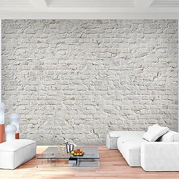 fototapete ziegelmauer 3d beige 396 x 280 cm vlies wand tapete wohnzimmer schlafzimmer bro flur dekoration - Tapete Wohnzimmer Beige