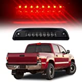 High Mount Stop Lights Full Rear LED 3RD Third Red Brake Tail Light Replacement fit for 1995-2016 Toyota Tacoma Truck (Smoke)