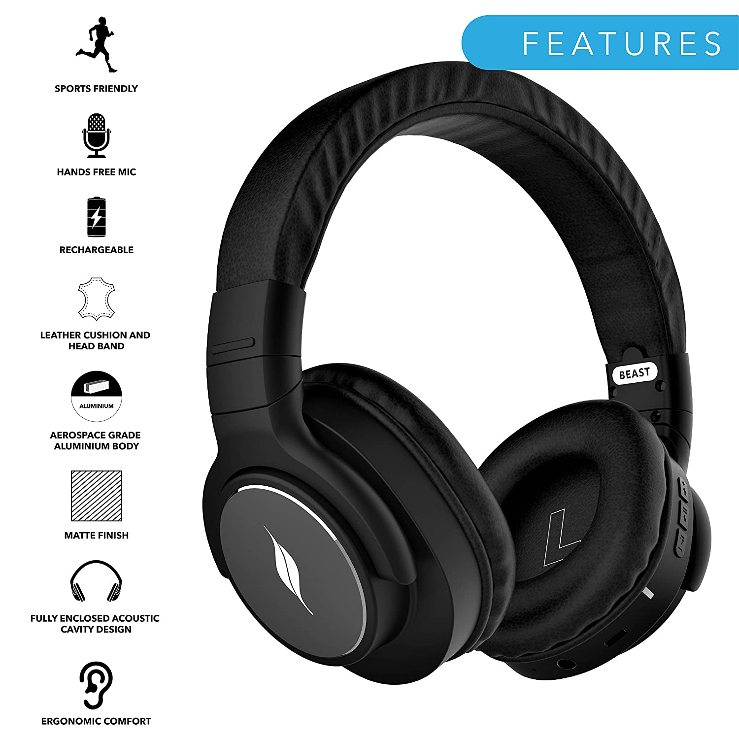 Leaf Beast Wireless Bluetooth Headphones For Android Amazon In Electronics