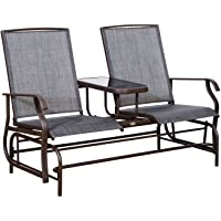 Outsunny 2 Person Outdoor Double Glider Chair w/Center Table Deals