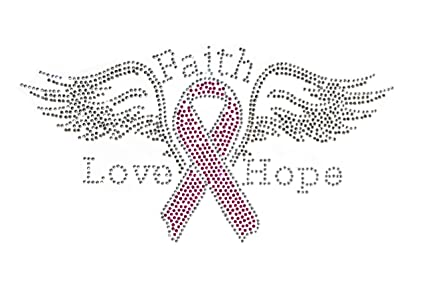 Amazoncom Breast Cancer Awareness Pink Ribbon With Wings Clear