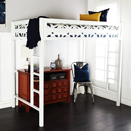 New Premium Deluxe Twin Metal Loft Bed