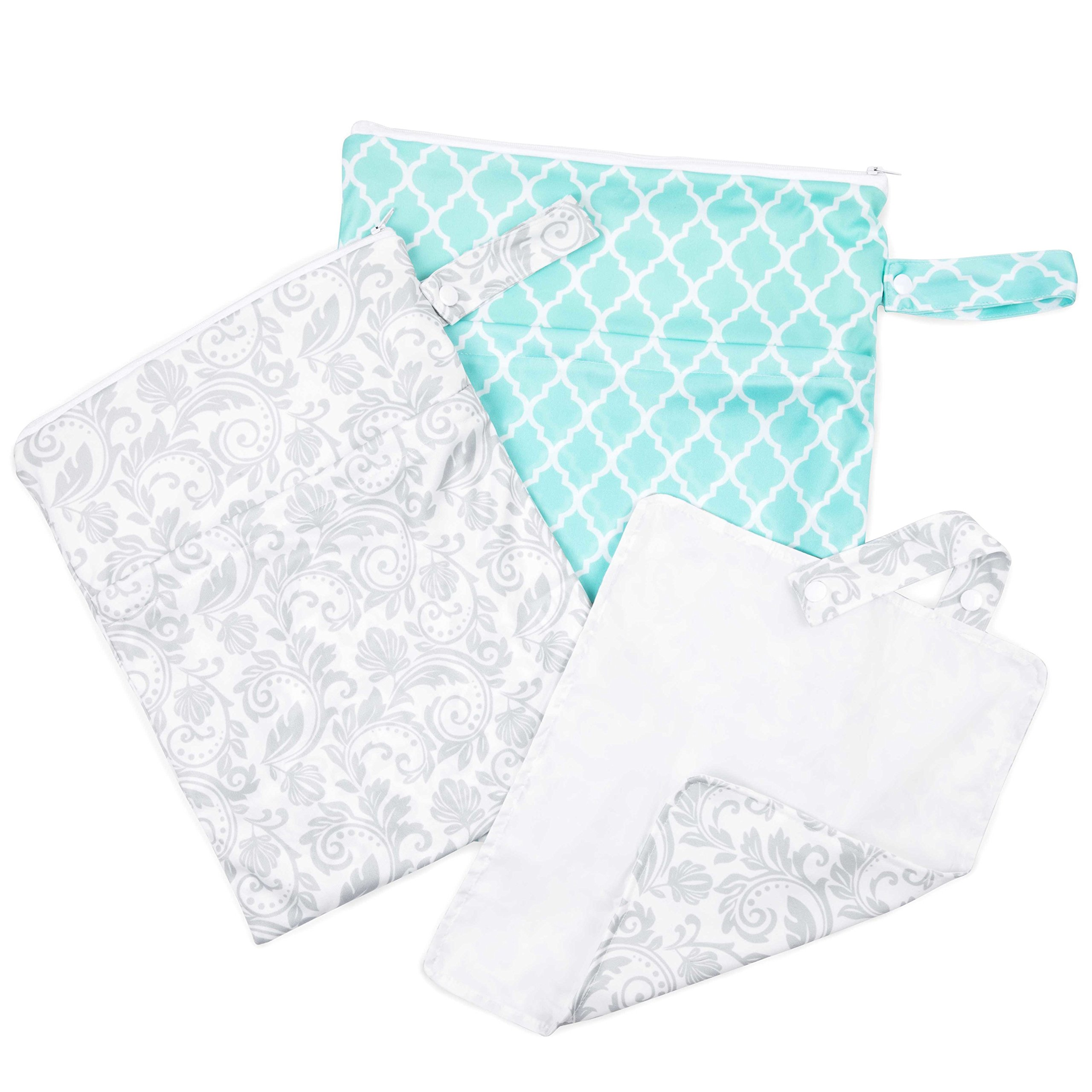 Waterproof Baby Diaper Bag Set: Reusable Wet Dry Laundry Bags for Cloth Diapers by Jomolly