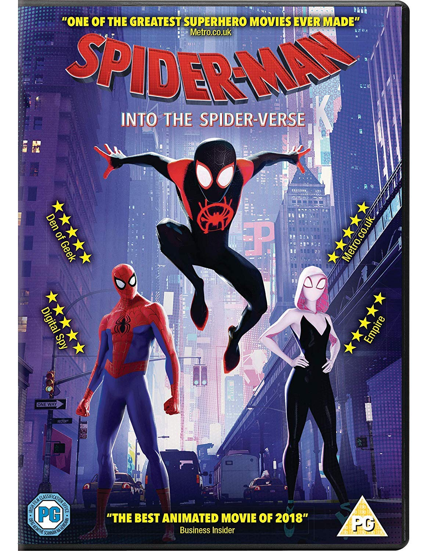 Amazon Com Spider Man Into The Spider Verse Dvd 2018 Usa Non Compatible Product Region 2 Movies Tv