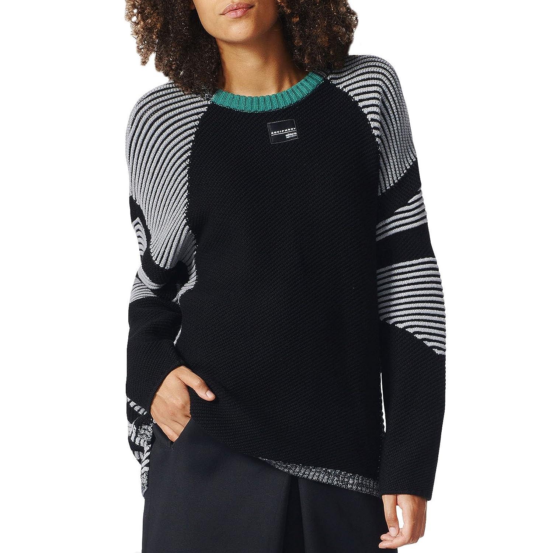 a3253457730c Amazon.com  adidas Originals Womens EQT Knitted Jumper - XS Black  Clothing