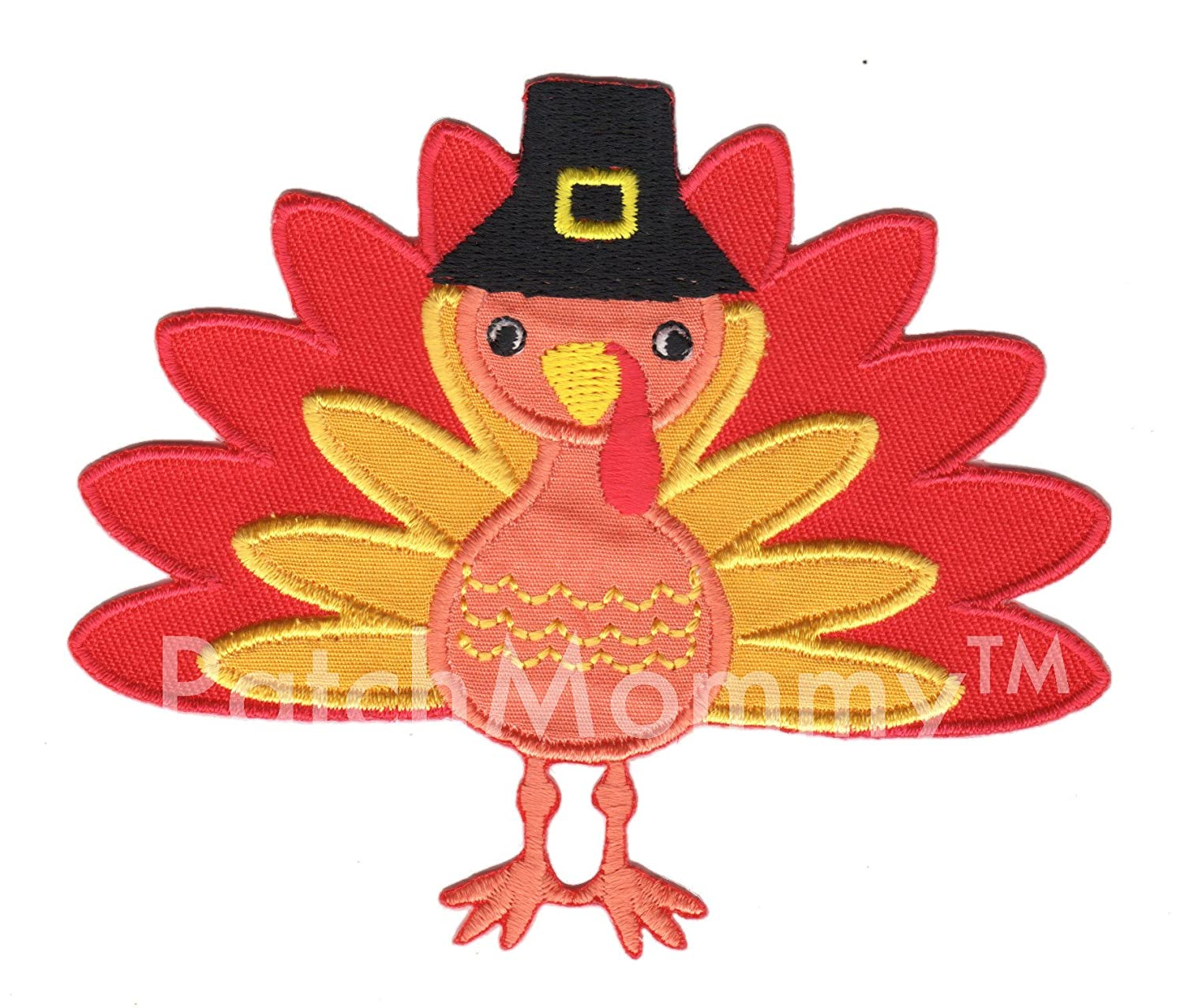 PatchMommy Iron On Patch, Turkey - Appliques for Kids Children
