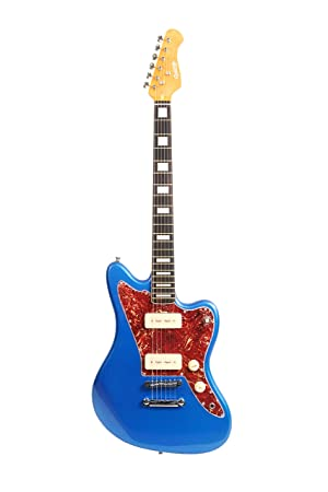 Blue Denver by QUINCY 6 String ELECTRIC GUITAR Jazzmaster
