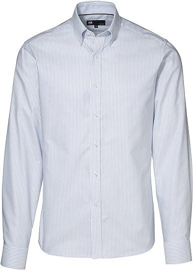 ID - Camisa Oxford con Botones Manga Larga Entallada Hombre Caballero: Amazon.es: Ropa y accesorios