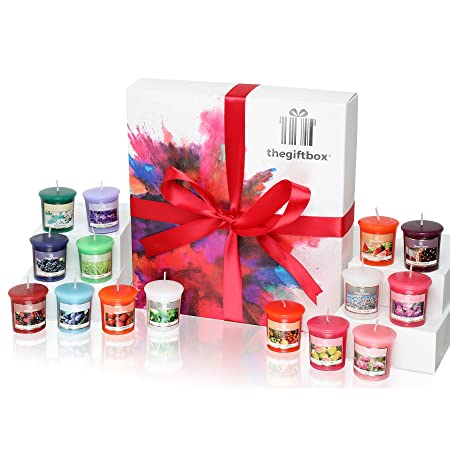 the ultimate candle gift box hosting 16 x colourful scented wax