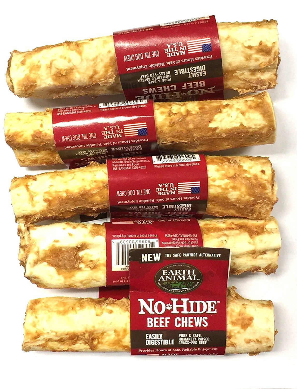 Earth Animal No Hide Beef Chews 7'' (5 Pack) by Earth Animal