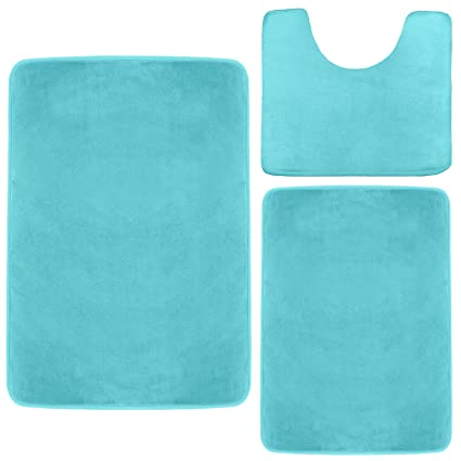 Bathroom Rug Sets Amazon.Clara Clark 3 Pack Bath Mat Set Large Small And Contour Bathroom Rug Set Absorbent Memory Foam Bath Rugs Non Slip Thick Velvet Microfiber