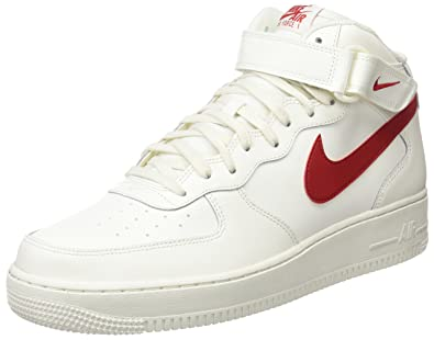 buy popular 70e9c eb554 Nike Air Force 1 Mid 07 315123-126 Herren Schuhe Weiß-Rot - Grösse