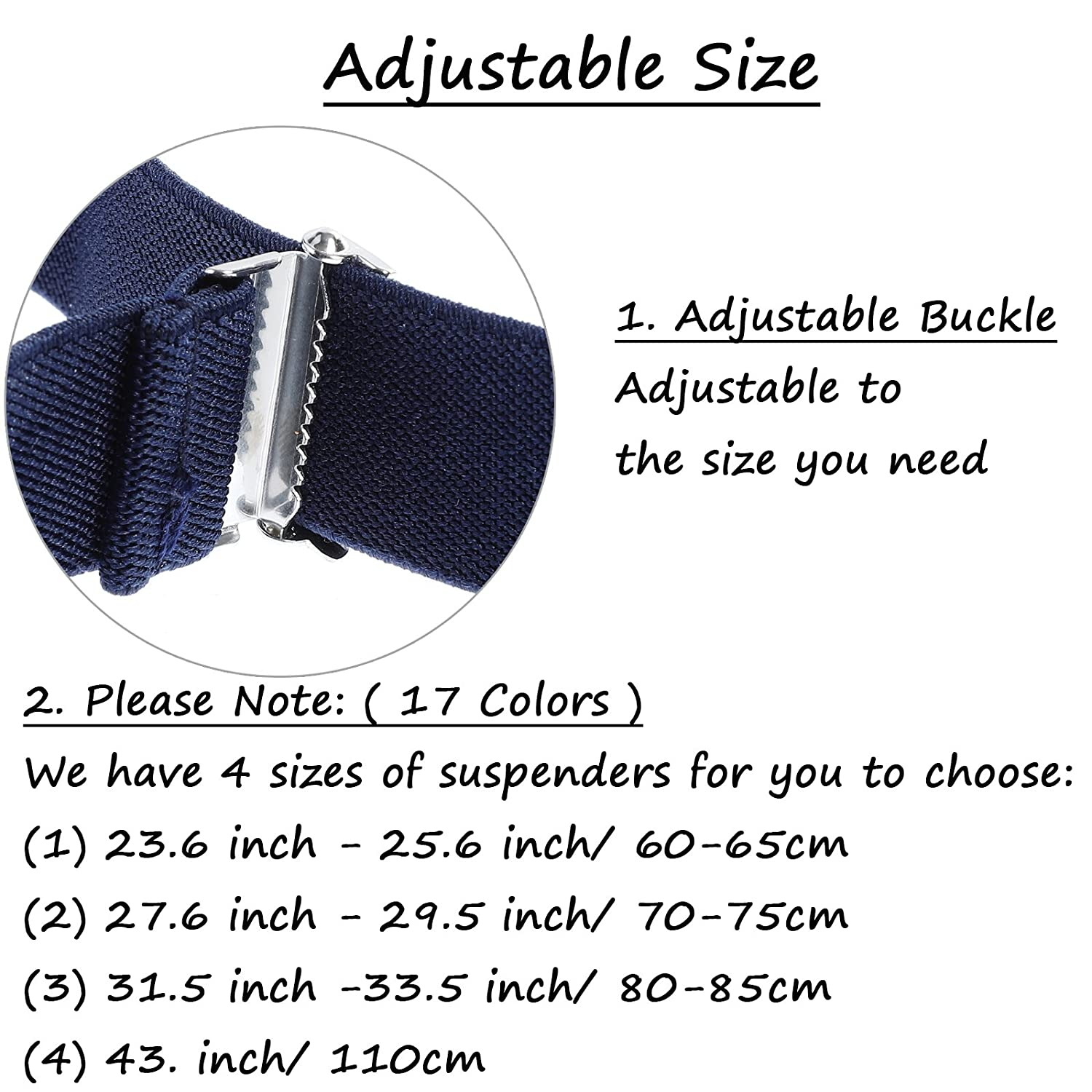 Y Back Adjustable Strong Clips Synthetic Leather Suspenders Toddlers Kids Boys Mens Suspenders