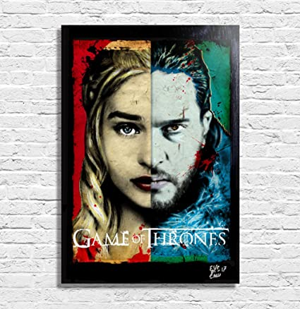 Daenerys Targaryen y Jon Snow de Game of Thrones (Juego de Tronos ...