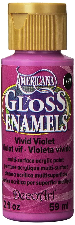 DecoArt Americana Gloss Enamels Paint, 2-Ounce, Vivid Violet