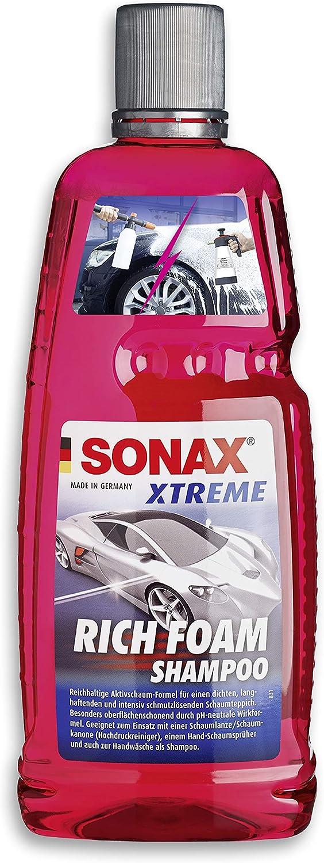 Sonax Xtreme RichFoam 02483000 - Champú con espuma que genera una alfombra de espuma densa, duradera y que elimina la suciedad, pH neutro, aroma a bayas (1 litro)
