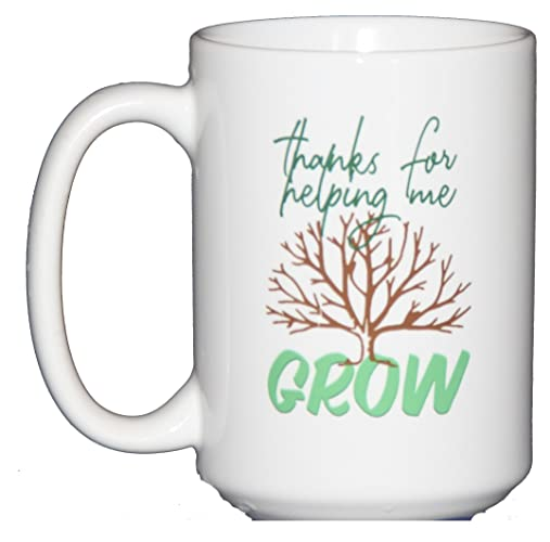 amazon com thanks for helping me grow coffee mug teacher gift