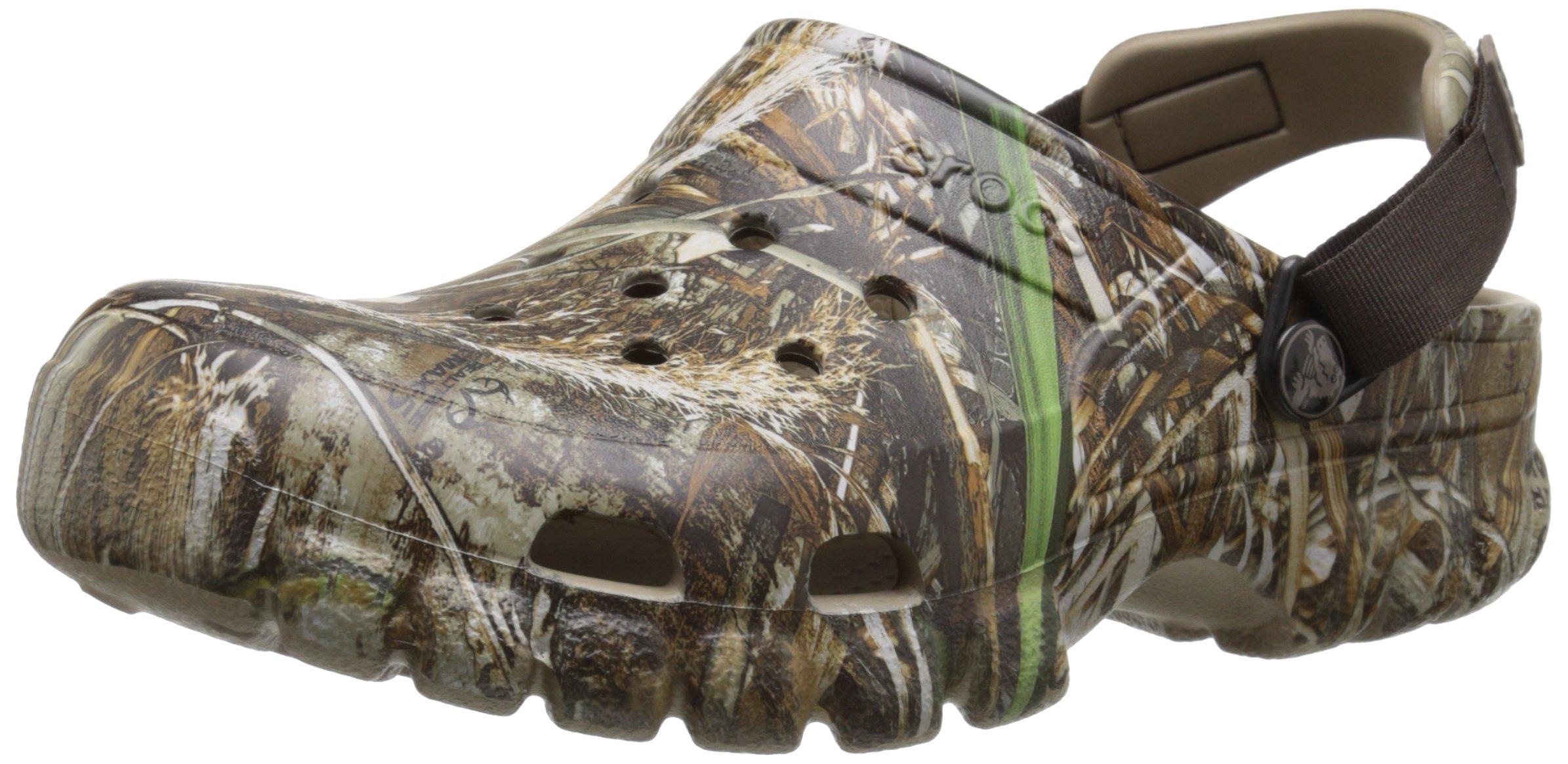 crocs Unisex Offroad Sport Realtree Max-5 Clog,  Chocolate/Khaki, 11 M (D) US Men's/13 M (B) US Women