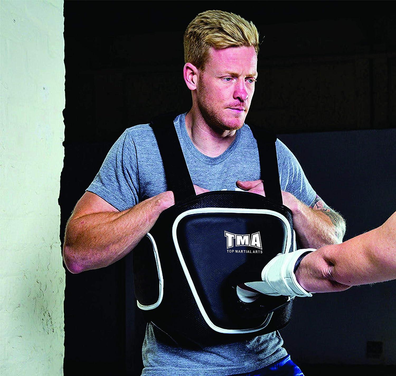TMA Boxing Belly Pad Chest Guard MMA Body Protector Martial Arts Rib Shield Armour Taekwondo Training