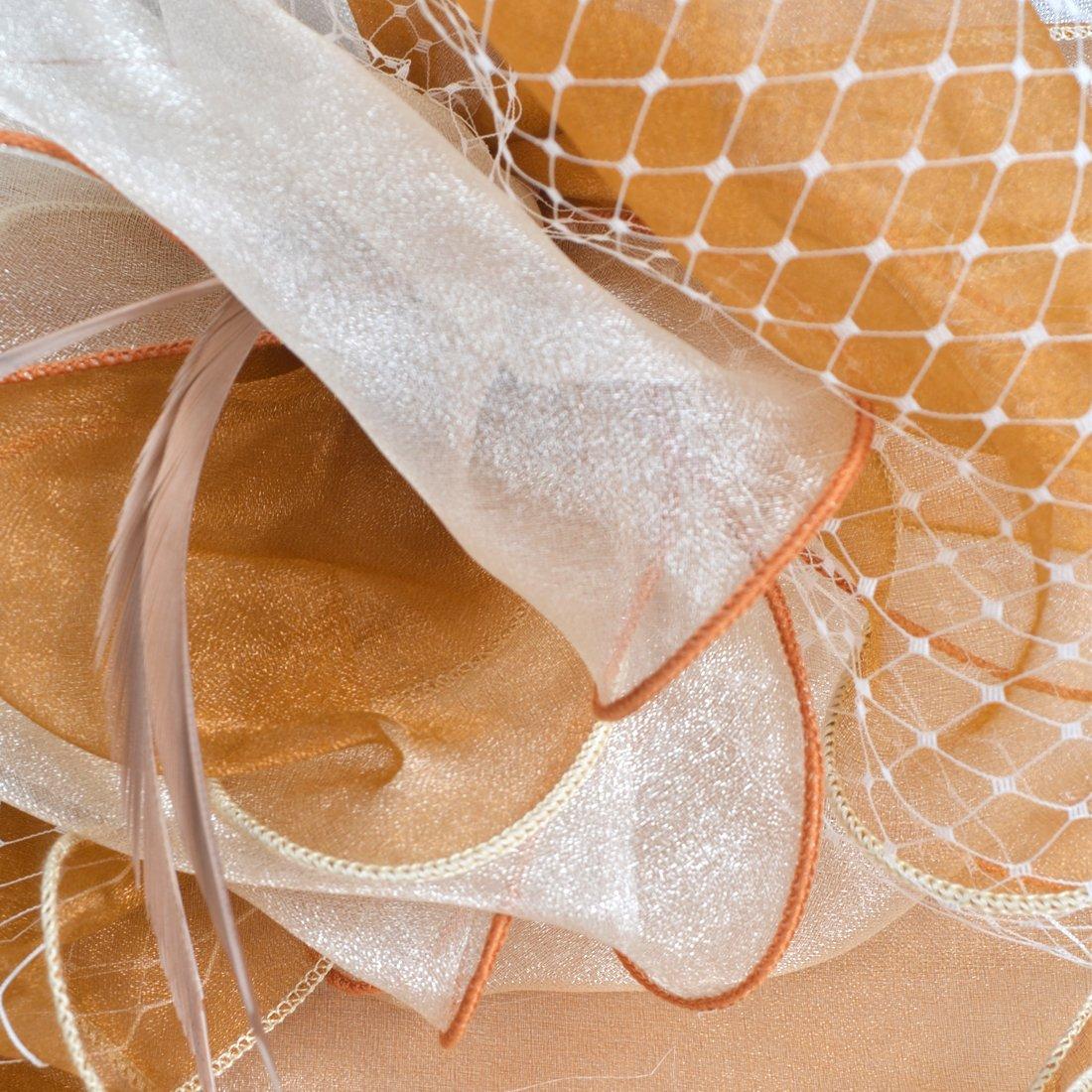 Damen Kirche Derby Kleid Fascinator Braut M/ütze Britischer Tee Party Hochzeit Sonnenh/üte