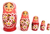 Lovoski 10本 木製 ロシア マトリョーシカ 入れ子人形 キュート プレゼント アヒルと猿 2パタン選べ - 15 * 11cm, アヒル