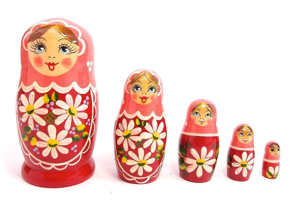 実行前提条件凶暴なLovoski 10本 木製 ロシア マトリョーシカ 入れ子人形 キュート プレゼント アヒルと猿 2パタン選べ - 15 * 11cm, アヒル