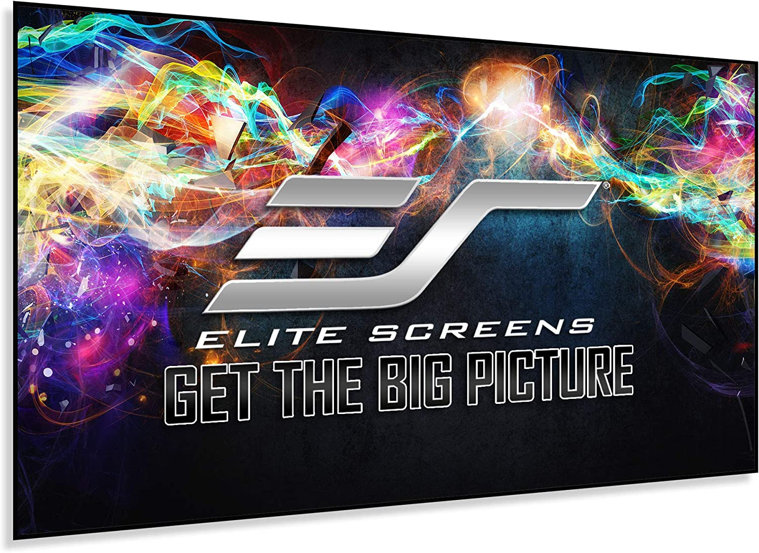 Elite Screens Edge Free Ambient Light Rejecting Fixed Frame Projection Projector Screen,Aeon CineGrey 3D Series, 120-inch 16:9 for Home Theater, Movie and Office Presentations AR120DHD3