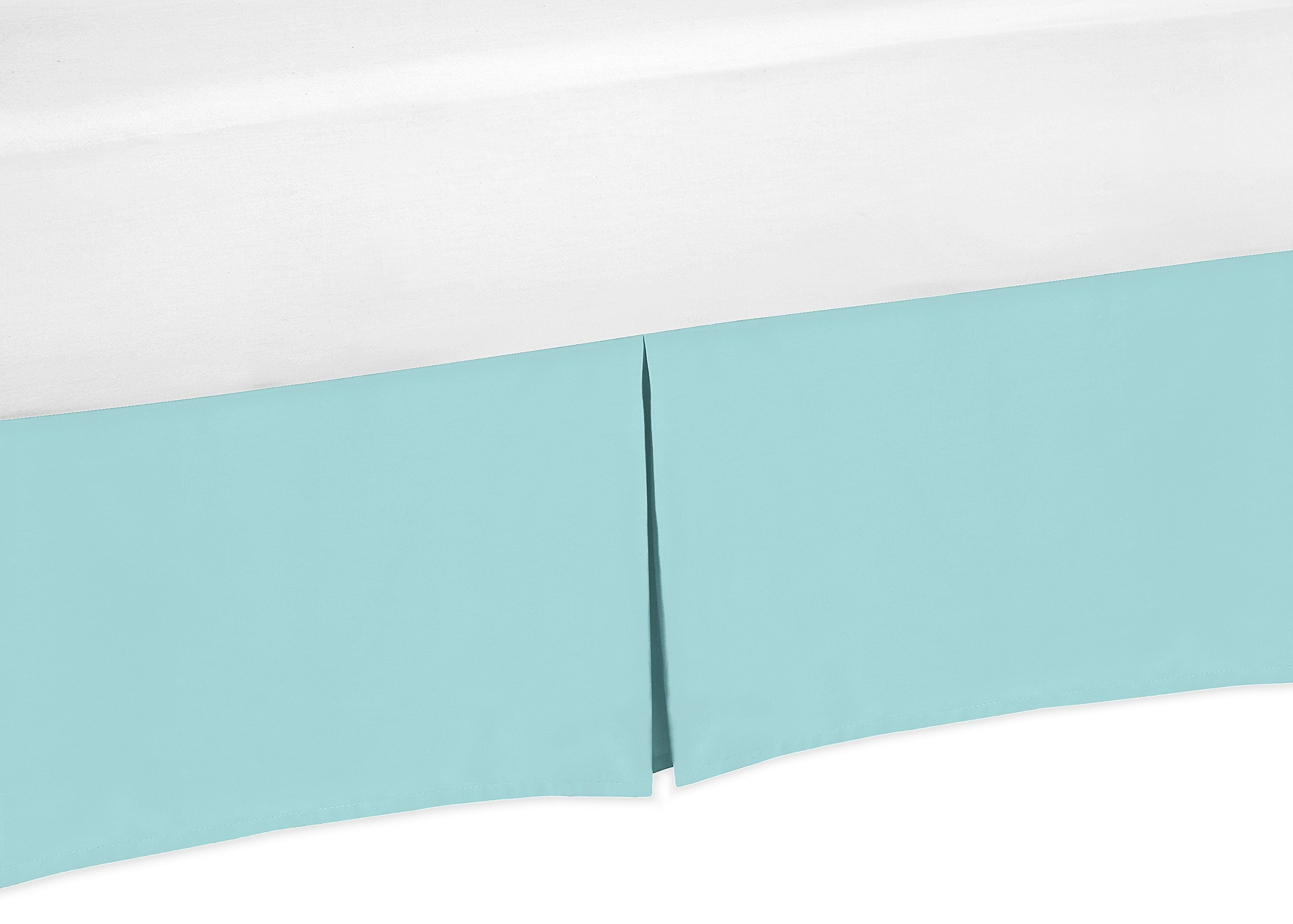 Sweet Jojo Designs Turquoise Blue Crib Bed Skirt for Baby Bedding Sets