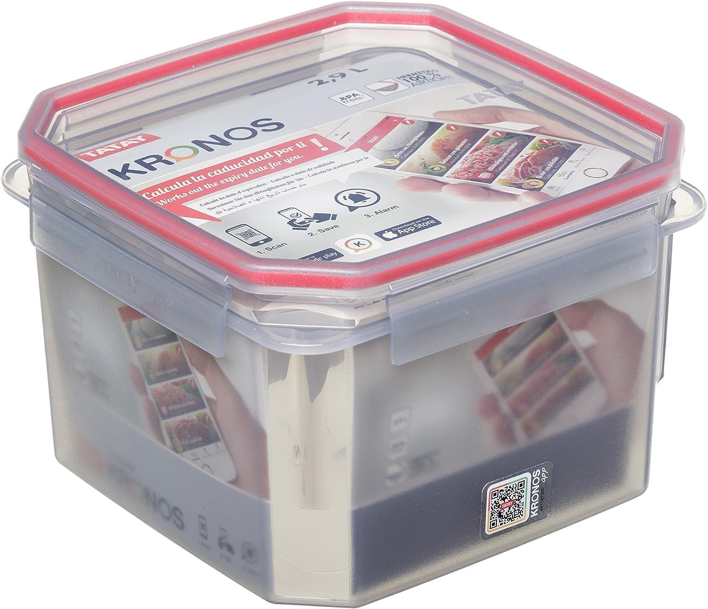 Tatay 1187300 Contenedor De Alimentos Cuadrado Con Código Qr Y App ...