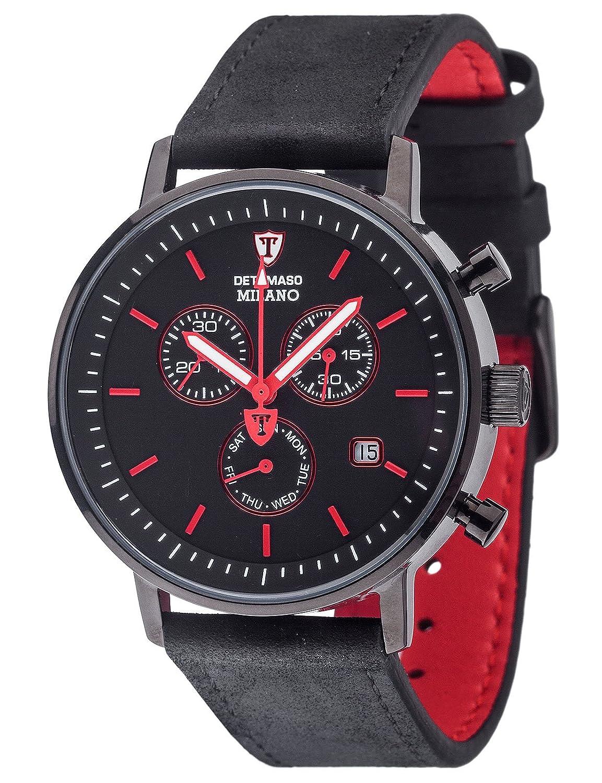 DETOMASO Herren-Armbanduhr Analog Quarz DT1052-O