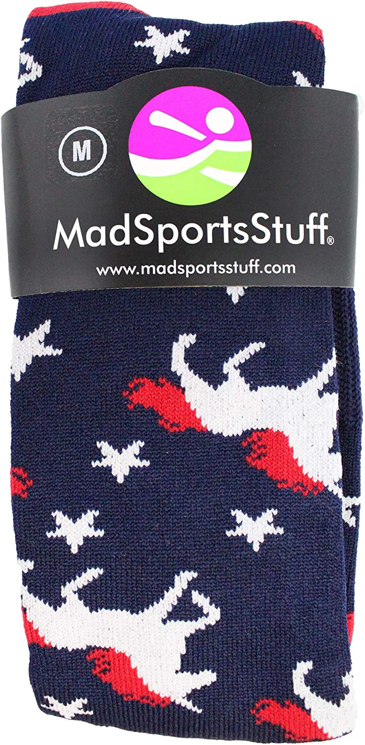 MadSportsStuff USA Unicorn Socks Over The Calf