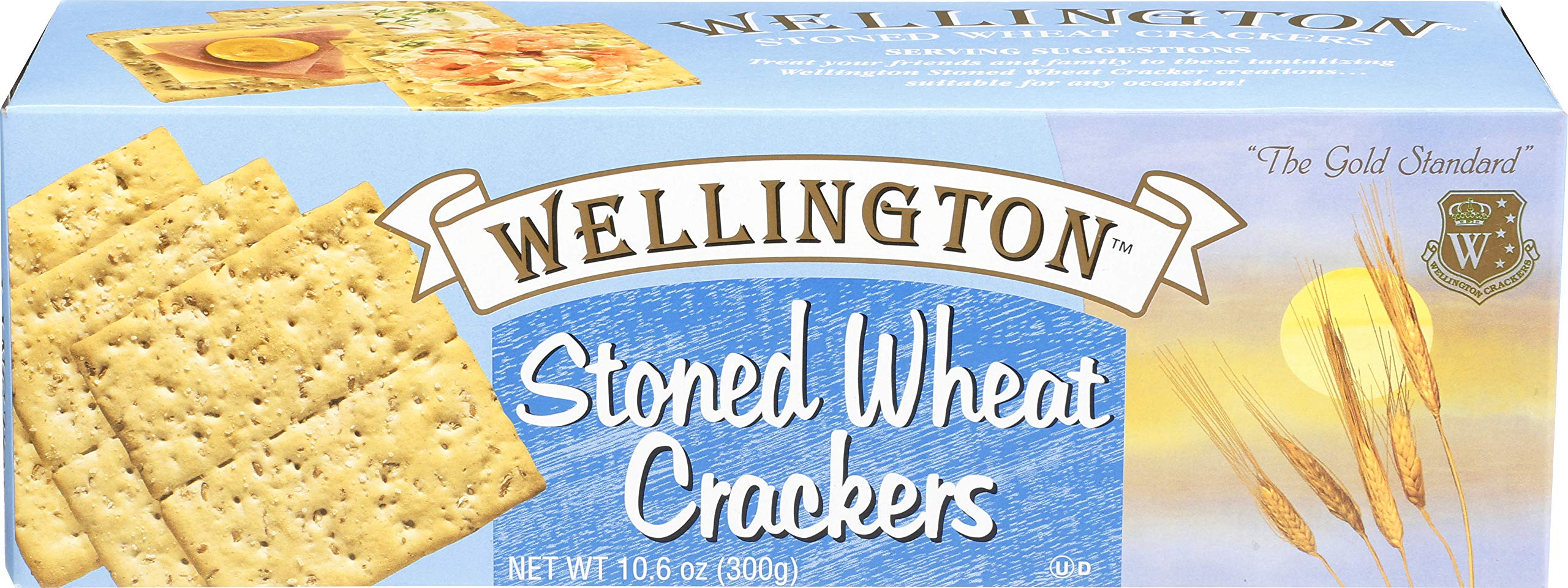 Wellington Stoned Wheat Crackers, 10.6-Ounces (Pack of 12)