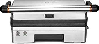 CRUX Panini Press Gourmet Sandwich Maker with Nonstick Plates