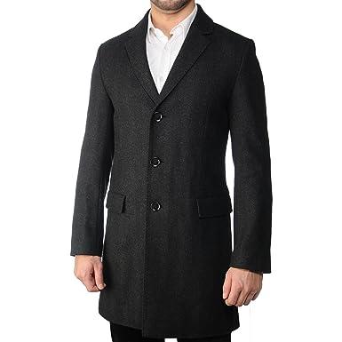 schöne Schuhe Luxusmode farblich passend HUGO BOSS Migor Herren Wollmantel Mantel in schwarz Größe 46 ...
