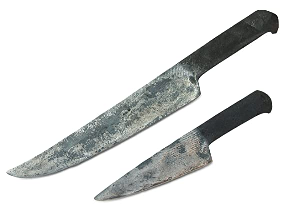 Forged in Fire from Steel File : Nude Vintage Butcher Knife : Cave Man Collection - Add Custom Handle to Make a Full Tang Knife : Specialty Carbon ...