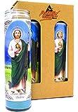 "4-Pack St. Jude Thaddeus | 8"" Tall Unscented Religious Prayer Candles | Devotional | San Judas Tadeo Novena Vigil Candle…"