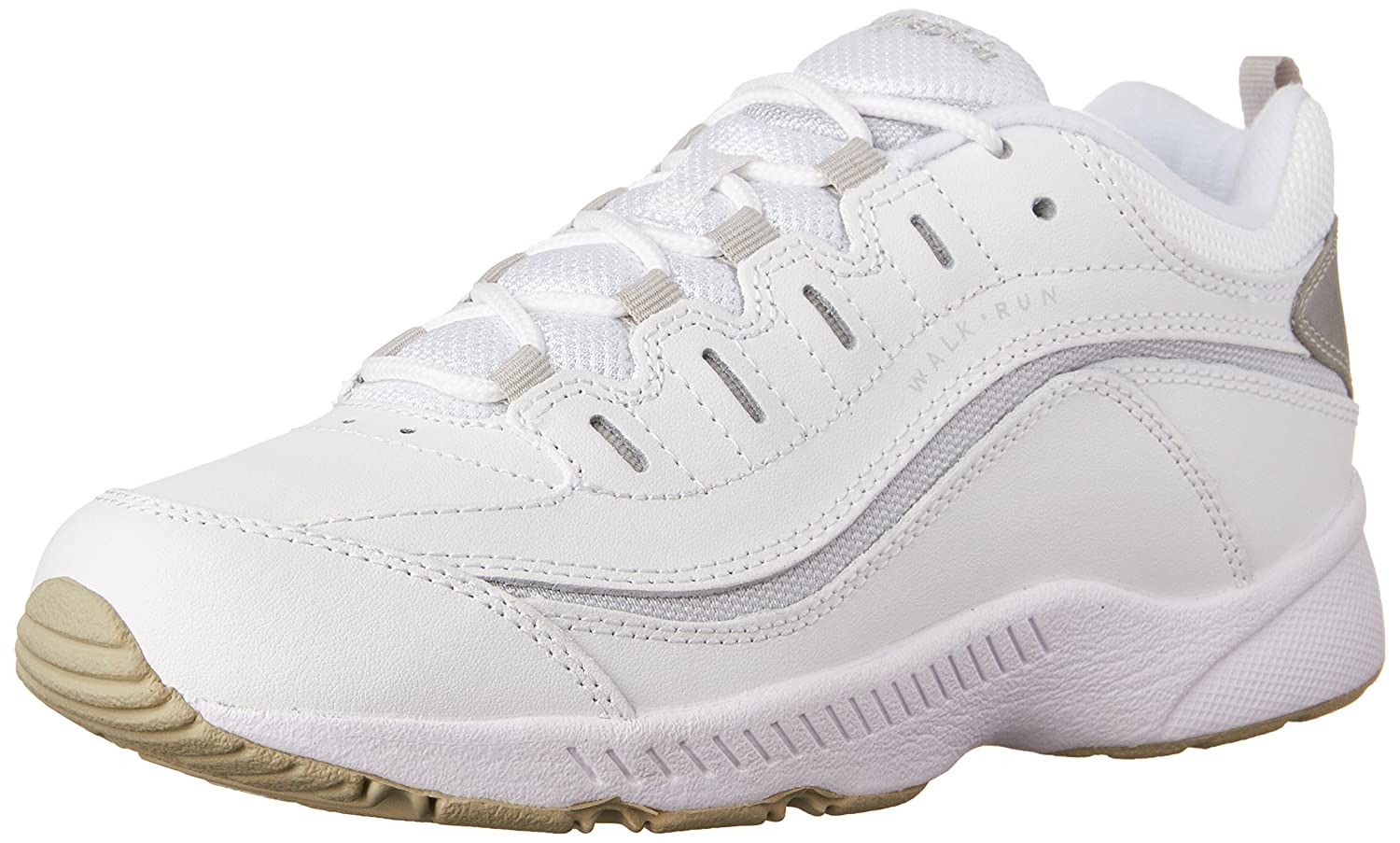 Easy Spirit Women's Romy Walking Shoe B000F608H4 9 B(M) US|White/ Light Grey