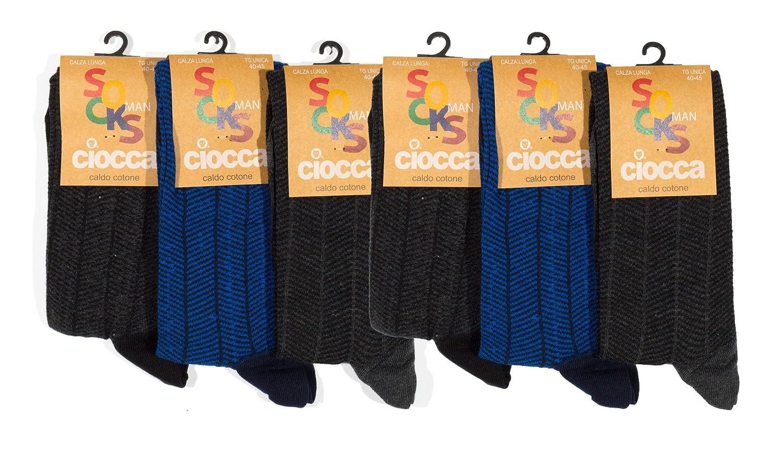 Pack de 6 para Hombre POMPEA Scozia Calcetines altos