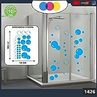 Sticker pour docce-fantasia bulles de savon Cod.1426(Bleu clair)