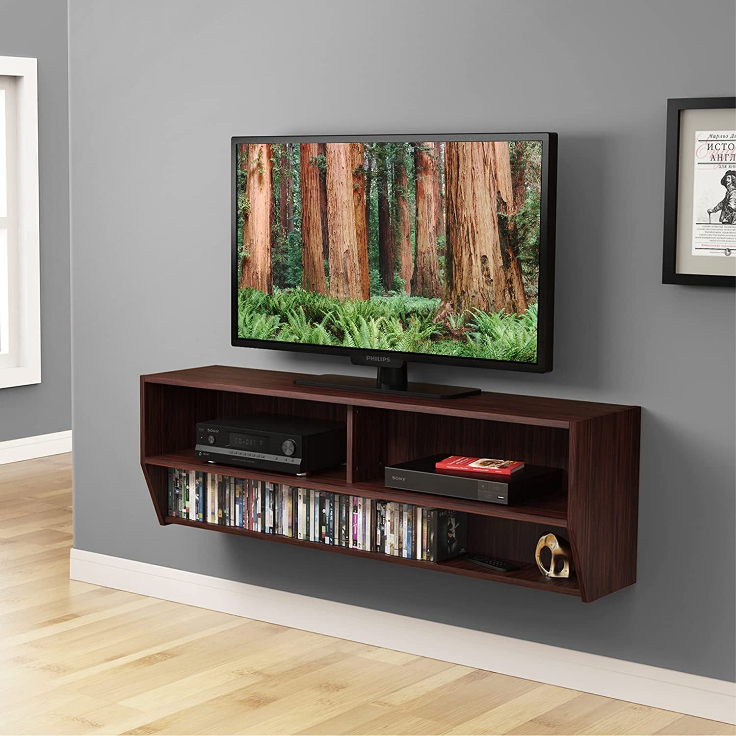 Superbe Amazon.com: FITUEYES Wall Mounted Audio/Video Console Wood Grain For Xbox  One/PS4/vizio/Sumsung/sony TV.DS212301WB: Kitchen U0026 Dining