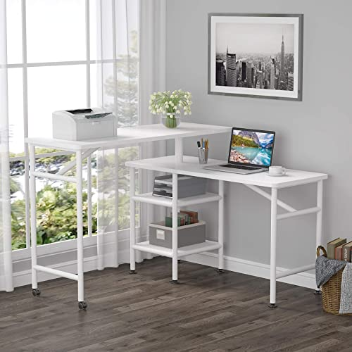 Tribesigns L Shaped Rotating Standing Desk