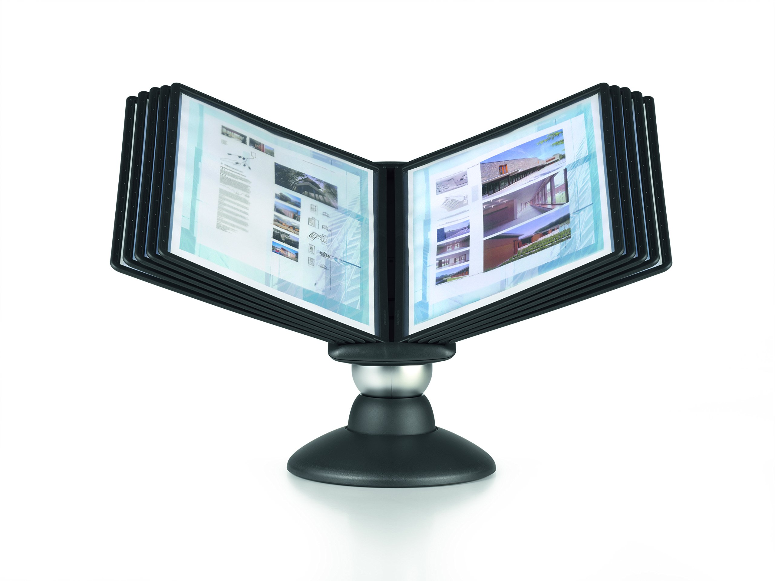 DURABLE SHERPA 10-Panel Motion Desktop Reference System, Black Borders (553901)