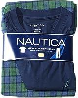 NAUTICA mens 2 pc T-shirt & Pants Pajama Sleepwear Set (S)
