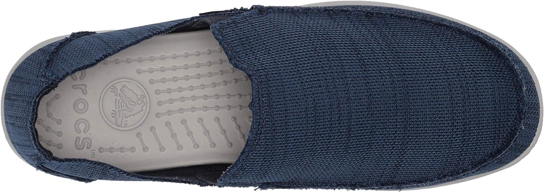 Comfortable Travel Shoe Crocs Mens Santa Cruz Downtime Slip on Loafer|Casual
