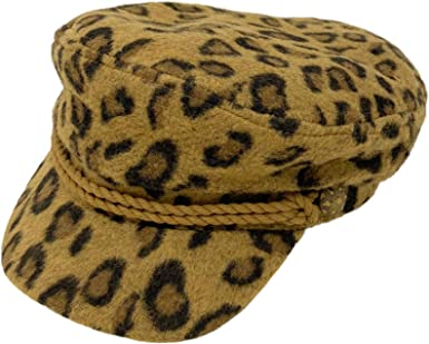 Mens Greek Fisherman Sailor Fiddler Winter Wool Driver Hat Flat Cap