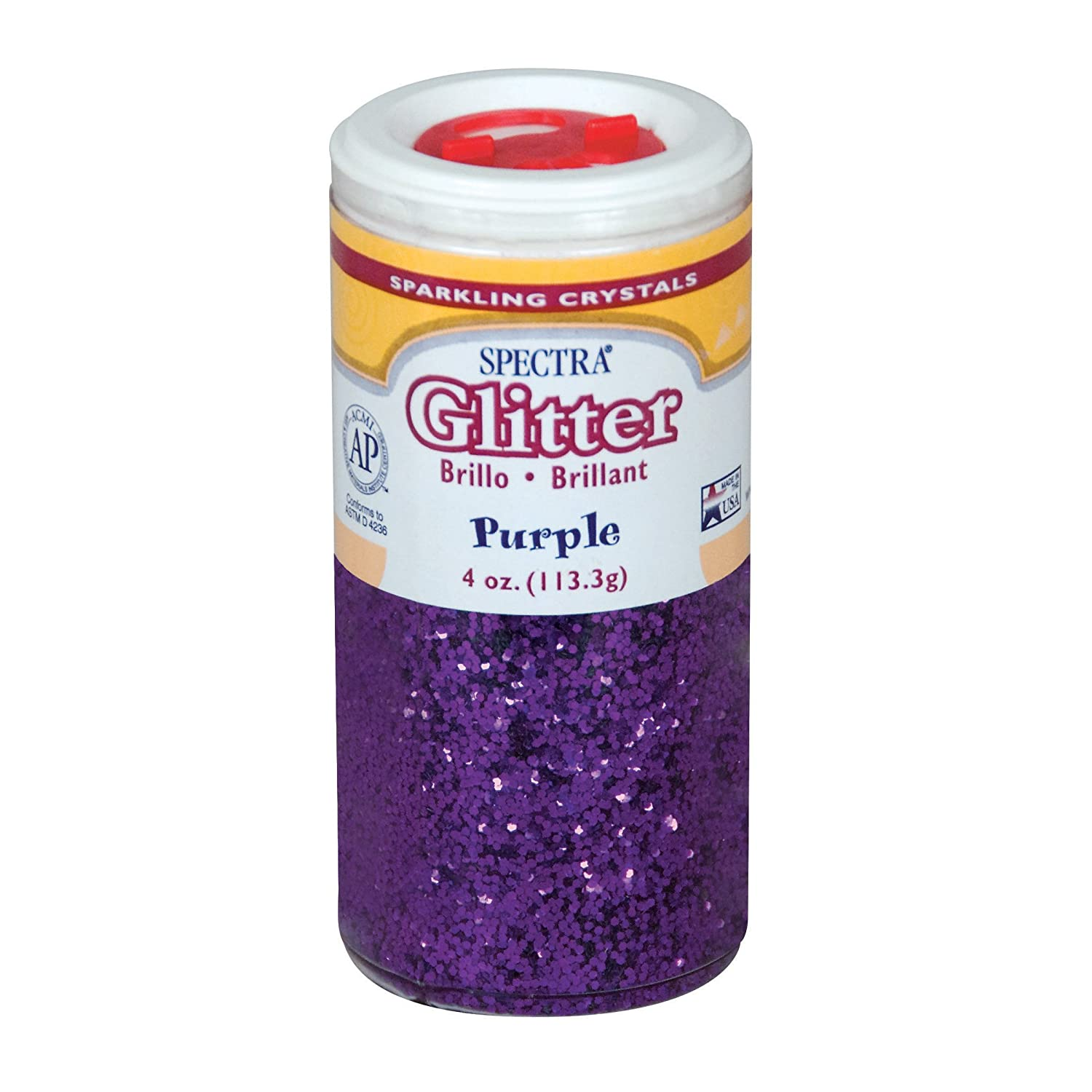 Pacon Spectra Glitter Sparkling Crystals, Purple, 4-Ounce Jar (91630) Pacon Corp.