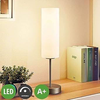 mit Uhr u Wecker weiß Big.Light LED Tischleuchte SOPHIE 1x LED á 6,5W inkl