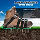 KedsHome Lawn Aerator Shoes 4 Metal Buckles and