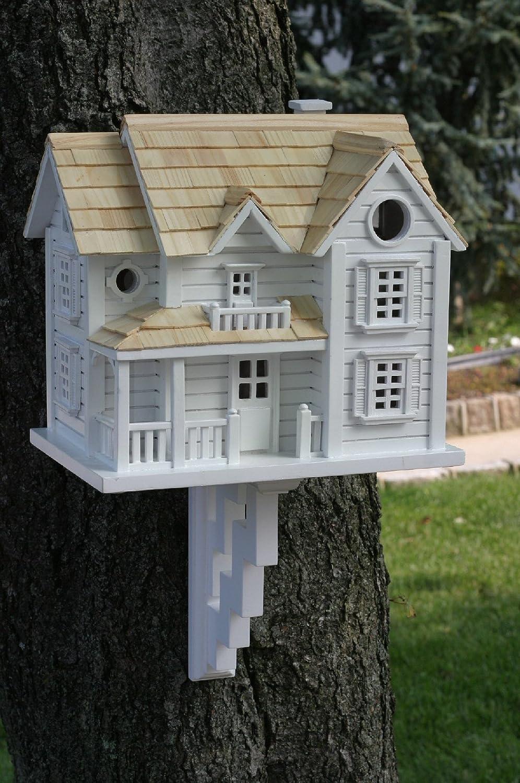GARDEN BAZAAR HB-2041 Kingsgate Cottage Bird House - White: Amazon ...